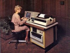 Here's a stack of images of women at computers in the 1980s.  As you might have guessed, most are secretaries doing glamorless data entry fo...