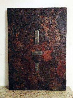 Wandbild Stahl Rost Stein Upcycled Crafts, Wood Steel, Wall Murals, Home Decor Accessories, Stones