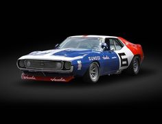 1971 AMC Javelin Trans-Am  My first Car was a red Javelin with a black racing strip!! <3