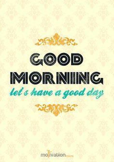 yeah good morning *hoahem*