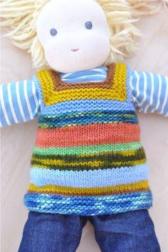 waldorf doll sweater