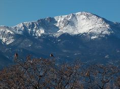 "Pikes Peak, Colorado Springs, CO - 14,110 ft at it summit, a view that inspired ""America the Beautiful"""