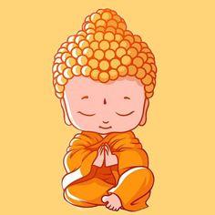 Buddha Drawing, Buddha Painting, Baby Buddha, Little Buddha, Cartoon Drawings, Cute Drawings, Buddha Wallpaper Iphone, Buddha Tattoo Design, Buddha Wall Art