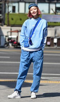 Street style: Seok Dan Bi shot by Baek Seung Won at Seoul Fashion Week Fall 2015