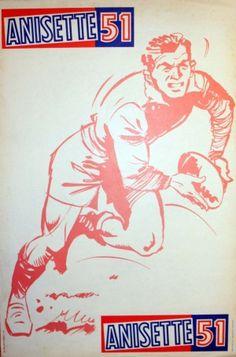 Anisette 51, 1960s - original vintage poster listed on AntikBar.co.uk
