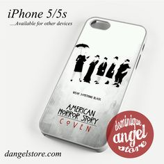 American Horror Story Wear Black Phone case for iPhone 4/4s/5/5c/5s/6/6 plus