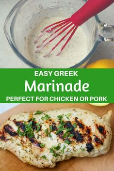 An easy Greek Chicken Marinade recipe that yields the most tender, juicy chicken. Perfect for prepping meals in advance, freezing or just a quick go-to chicken dinner. #chickenrecipe #mealprep #chickendinner #grilling #Greekrecipe #glutenfree via @amindfullmom