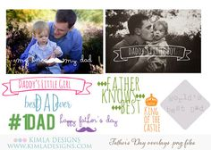 Father's Day Photo Overlays PNG files for by KimlaDesigns on Etsy,