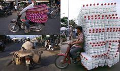 Photographer captures the cargo of motorbikes on Vietnam's streets