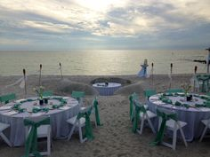 Intimate beach wedding with sweetheart booth carved into the sand! Lido Beach Resort in Sarasota, FL