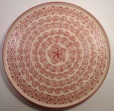 "Mixtec Oaxaca Mexican Pottery - Large 15"" Platter - Signed Alfareria Jimenez"