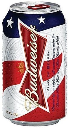 Patriotic Budweiser can