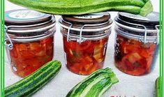 Zavařené, velmi chutné cukety Healthy Diet Recipes, Healthy Snacks, Pumpkin Squash, Sweet Potato Chips, Food Network Recipes, Pickles, Cucumber, Kimchi, Zucchini