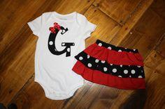 Georgia Ruffle Skirt and Shirt,so adorable for a baby girl