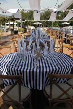 The annual fundraiser for the Glendora Library had a new theme this year, nautical! For the event of of 350 attendees we used our new. Table Top Design, Sail Away, New Theme, Social Events, Flatware, Weddingideas, Tabletop, Tablescapes, Nautical