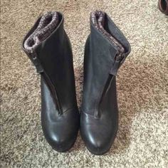 NWT Dolce Vita Leather booties Leather boot with built in angle warmer.  Zipper front Louis Vuitton Shoes Ankle Boots & Booties