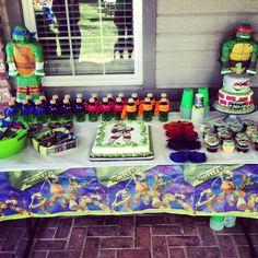 Ninja turtle party. I love the. Bottles