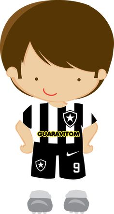 Futebol - Minus                                                                                                                                                                                 Mais Clipart Boy, Cute Clipart, Sports Clips, Soccer Party, Football Pictures, Cute Images, Portfolio, Baby Quilts, Chibi
