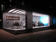 exhibtion design for the mercedes-benz fuel cell pavillion