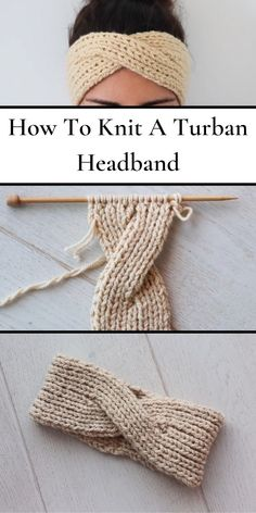 With the help of this step by step guided video tutorial you will learn Beautiful Knitting Headband Project For Beginners. Knitting Stitches, Knitting Patterns Free, Free Knitting, Crochet Patterns, Start Knitting, Diy Easy Knitting, Knitting Ideas, Baby Knitting, Crochet World