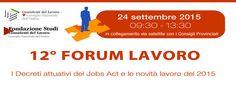 Forum Lavoro diretta Streaming 12a Edizione