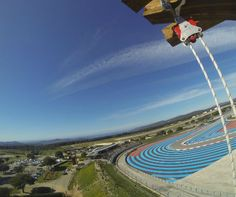 Don't look down! Zip wiring at Paul Ricard Circuit Le Castellet