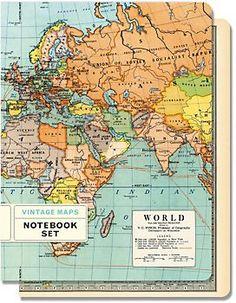 Cavallini Maps Journals