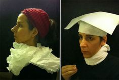 While on a long-haul flight, when most people would sleep, read a book or chew on complimentary snacks, Nina Katchadourian spends her time locked in the airplane's lavatory taking selfies in the style of 15th century Flemish paintings.