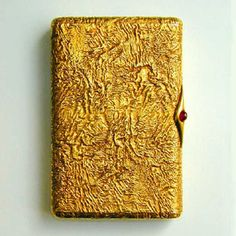 Faberge yellow gold cigarette case