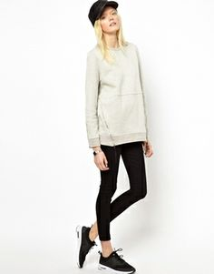 Just Female Zipped Sweatshirt