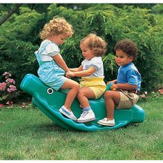 Little Tikes Classic Whale Teeter Totter in Green. My childhood rocked Outdoor Toys For Toddlers, Best Outdoor Toys, Outdoor Fun, Toddler Toys, Baby Toys, Kids Toys, Backyard Toys, Little Tykes, 90s Kids
