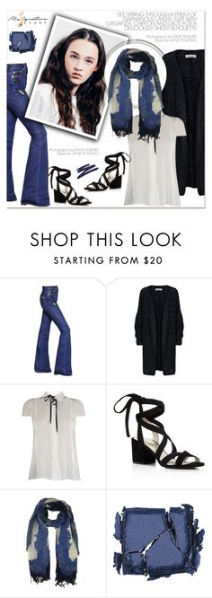 """""""Denim day- My Signature Scarf"""" by mysignaturescarf ❤ liked on Polyvore featuring Sonia Rykiel, Kenneth Cole, Surratt, By Terry, StreetStyle, scarf, accessories, PolyPower and mysignaturescarf"""