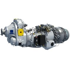 Pratt & Whitney Canada PW100 Turboprop Engine 3D Model