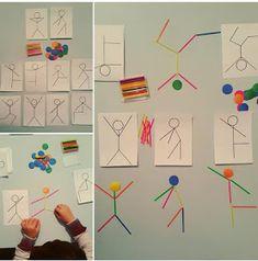 with ・・・ Şablona bakarak sayı çubu. - My Pin Montessori Activities, Motor Activities, Infant Activities, Kindergarten Activities, Educational Activities, Activities For Kids, Teaching Kids, Kids Learning, Preschool Art