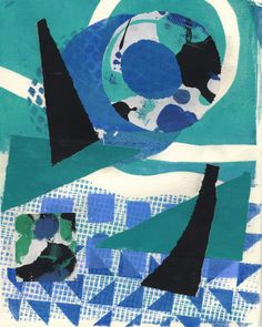 Joan Gillman Smith, Corabee, 10x8 inches, mono print with collage of painted papers