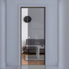 eclisse 10mm grey tinted glass pocket door no design