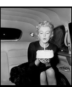 Marilyn Monroe celebrating her 30th birthday.