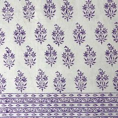 Bed linens queen size flat sheet cotton block print Indian decor. gorgeous!
