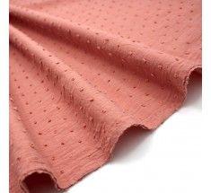 100/% Cotton Dressmaking Fabric Dotted Swiss Voile Khaki