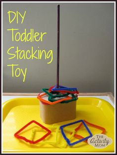 DIY Toddler Stacking Toy This DIY Toddler Stacking Toy is the perfect combination of colors shapes and fine motor skills! The post DIY Toddler Stacking Toy appeared first on Toddlers Ideas. Outdoor Activities For Toddlers, Toddler Learning Activities, Learning Toys, Infant Activities, Toddler Preschool, Toddler Crafts, Toddler Toys, Toddler Stuff, Color Activities