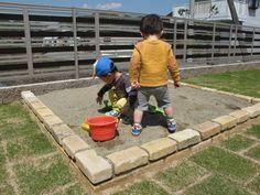 芝生と砂場のあるお庭 西脇市H様邸4