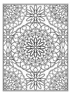 mandala rug coloring page