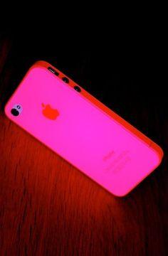 Neon Pink Glow in Dark iPhone Case ♥ SO cool!