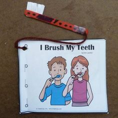February is Dental Health Month! I Brush My Teeth Booklet activities and craft