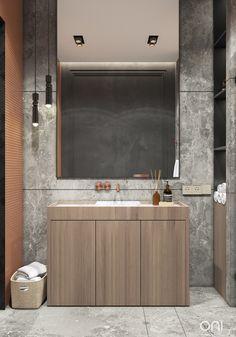 VAREZHKI HOUSE on Behance Fancy Living Rooms, Living Room Designs, Grey Bathroom Cabinets, Hotel Design Architecture, Small House Interior Design, Interior Designing, Behance, Simple Bathroom, Bathroom Ideas