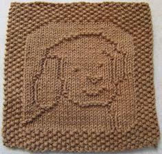 Pattern Washcloths.  Down Cloverlaine: Gus Cloth