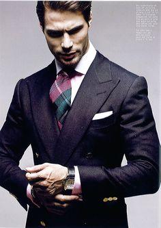 Handsome Gentleman. Notice the Fat tie style