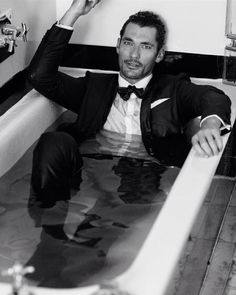 """David Gandy on Instagram: """"Another image by @arnaldoanaya for @britishgq with @larrykinghair (who makes even wet hair look good!)"""""""