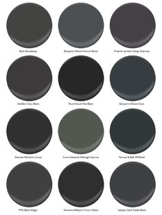 Trade Secrets: The Best Black Paint Colors for Any Room - Schwarz
