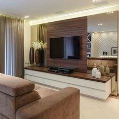 Apartment Design, Apartment Living, Apartment Interior, Interior Design Living Room, Living Room Decor, Tv Unit Furniture Design, Modern Tv Wall Units, Home Office Layouts, Living Room Tv Unit Designs